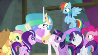 "Princess Celestia ""we have a show to do!"" S8E7"