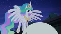 Princess Celestia at top of orrery S4E02