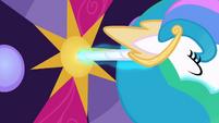 Princess Celestia uses her horn as a key S02E01