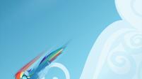 Rainbow Dash flying downward S6E7