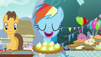 Rainbow Dash opening her mouth S7E23