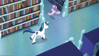 Shining Armor chases after Flurry Heart S6E2