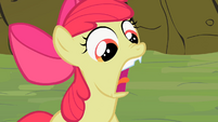 Apple Bloom showing her chipped tooth S2E6