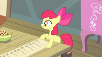 Apple Bloom with checklist S4E17