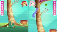 Fluttershy's avatar climbs the tree EGDS34