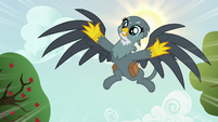 Gabby dive-bombing out of the sky S6E19