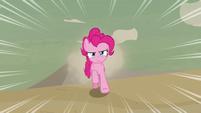Pinkie Pie racing through the desert S7E18