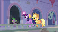 Spike, Twi, and AJ enter a secret passage S9E4