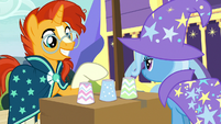Sunburst picks the cup in the middle S7E24