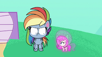 Fluttershy shrinks down to small size PLS1E2b