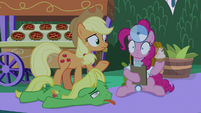 Pinkie Pie goes wide-eyed with shock S9E17