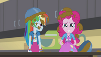 Pinkie and Rainbow covered in batter EG2