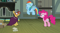 Rainbow Dash fluttering with excitement S7E18