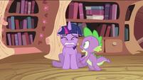 Spike with scared Twilight Sparkle S2E03