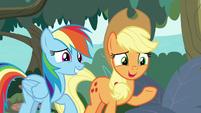 Applejack agreeing with Rainbow Dash S8E9