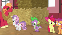 Big Mac, Spike, and CMC all looking sad S8E10