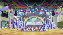 Crystal Rainbooms' stage in the CHS gym EGS1