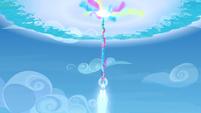 Crystal heart shooting into the sky S3E12