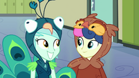 Lyra and Sweetie Drops smiling again EG3