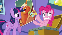 Pinkie loses hold of Brutus Force toy S5E19