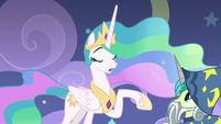 Princess Celestia speaking very softly S8E7