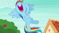 Rainbow Dash laughing out loud S8E9