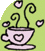 Teacup surrounded by hearts