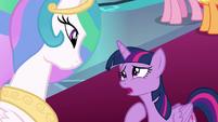 Twilight Sparkle correcting herself S9E1