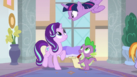 Twilight appears over Starlight and Spike S8E1