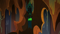 Chrysalis suspended from the ceiling S9E24