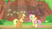 "Fluttershy ""destroyed their whole village"" S8E23"