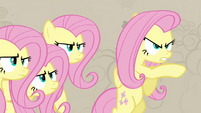 Fluttershy pretending to be a changeling S2E26