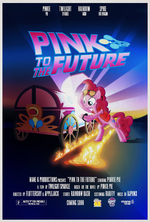 MLP Retro Week Back to the Future parody poster