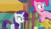 Pinkie and Rarity looking over at Maud S6E3