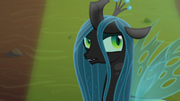 Queen Chrysalis rolling her eyes S9E8
