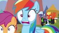 Rainbow Dash shocked to see Lightning Dust S8E20