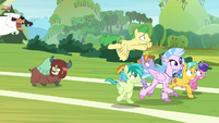 Students running away from the bugbear S8E15