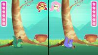 Sunset's avatar gets clonked with acorn EGDS34