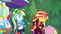 Sunset Shimmer winces in pain again EGSBP