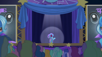 Trixie shrieking --it's a working title!-- S6E6