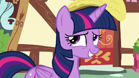 Twilight Sparkle looking embarrassed S8E20