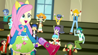 """Fluttershy and students cheer """"Yay!"""" again SS4"""