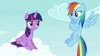 "Rainbow Dash ""you didn't even notice"" S4E21"