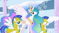S01E16 Celestia podchodzi do Rainbow Dash