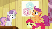 "Scootaloo ""Ponies with cutie mark problems are hard to find"" S6E4"
