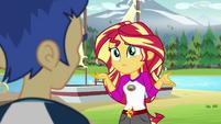 Sunset Shimmer asking for Flash Sentry's opinion EG4