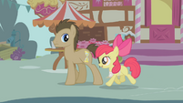 """Apple Bloom and Dr. Hooves """"Care to buy some apples?"""" S1E12"""