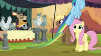 Fluttershy watches Rainbow take off S4E22
