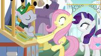 Fruit Seller pony startling Fluttershy S9E24