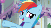 "Rainbow Dash ""doing a loyalty lesson"" S8E1"